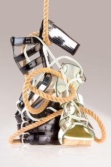 Free Glamorous Designer Footwear Stock Photography - 6961442