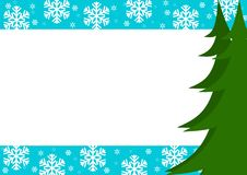 Free Christmas Border With Trees And Snowflakes Stock Photo - 6962050