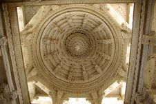 Ceiling In A Temple, Rajasthan Royalty Free Stock Photography