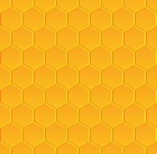 Free Seamless Pattern With Honeycombs Stock Photography - 69714312