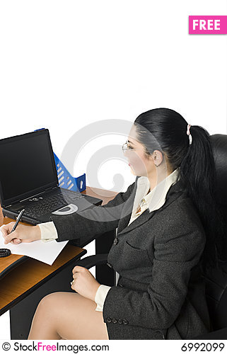 Free Office Business Woman Royalty Free Stock Images - 6992099