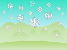 Free First Snowflakes Royalty Free Stock Photography - 6998837