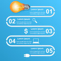 Free Business Infographics Origami Style Vector Illustration. Bulb Ic Stock Photos - 69966583