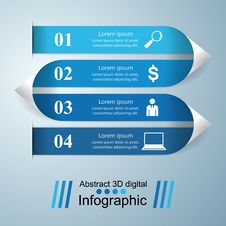 3D Infographic Design Template And Marketing Icons. Royalty Free Stock Image