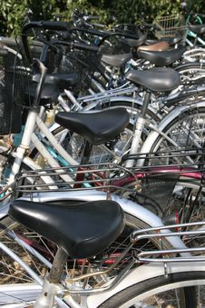 Free Bicycle Parking Lot. Royalty Free Stock Image - 70486