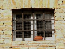 Window And Bars Royalty Free Stock Photography