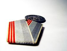 Free Soviet Medal Royalty Free Stock Photo - 71335