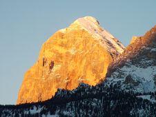 Winter Dolomites Sunrise Royalty Free Stock Image