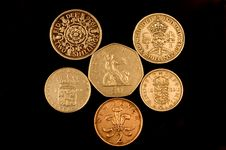 Free Old English Coins Royalty Free Stock Image - 75576