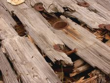 Free Rotten Wooden Spool Stock Images - 76114