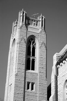 Free Bell Tower In Black & White Royalty Free Stock Image - 76186