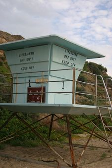Free Lifeguard Tower Royalty Free Stock Photo - 76985
