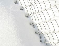 Free Snow And Fence Royalty Free Stock Image - 77036