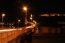 Free Pontoon Bridge View Stock Image - 700151