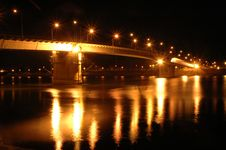 Free Night Bridge View Stock Images - 700154