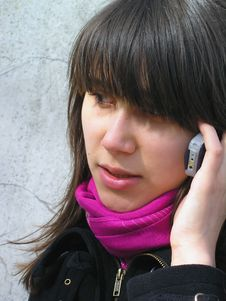Free Girl With A Phone Stock Images - 702344