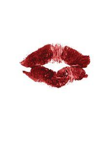 Lipstick Imprint Stock Image