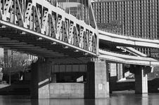 Free Pittsburgh Fort Pitt Bridge Stock Images - 702744