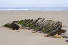 Free Holy Island Shipwreck 3 Royalty Free Stock Photography - 703587