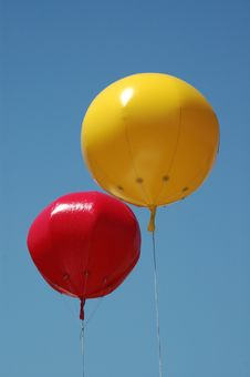 Free Coloured Balloons Royalty Free Stock Image - 703946
