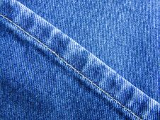 Free Blue Jeans Diagonal Royalty Free Stock Photography - 705167