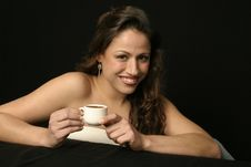 Free Brazilian Woman With Cup Stock Photos - 706203