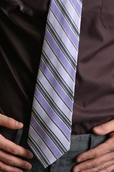 Free Purple Striped Tie Stock Photo - 707620