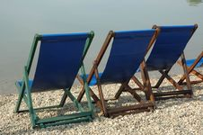 Free Beach Chairs Royalty Free Stock Photos - 708338