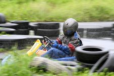 Free Karting In The Rain 2 Stock Image - 709691