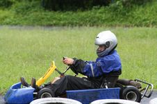 Free Karting In The Rain 4 Royalty Free Stock Image - 709696