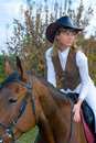 Free Pretty Young Woman Riding  Horse. Stock Photos - 7006383