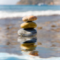 Free Stack Of Pebbles Royalty Free Stock Photography - 7007507