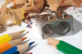 Free Pencils And Sharpener Royalty Free Stock Photo - 7009965