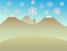 Free Snowflakes In The Desert Stock Image - 7001781