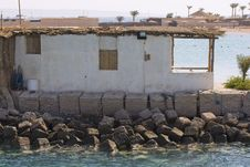 Free Boat Hut With Anchor Ropes On The Red Sea Coast Stock Photos - 7005703