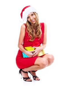 Free Santa Girl Stock Photos - 7005753