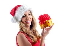 Free Santa Girl Royalty Free Stock Photos - 7005778