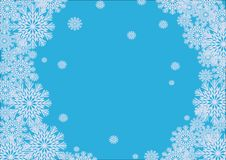 Free Winter Frame With Snowflakes Royalty Free Stock Images - 7006209