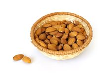 Free Basket Of Almonds Royalty Free Stock Photo - 7006275