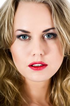 Free Portrait Of The Blonde With Blue Eye Royalty Free Stock Photos - 7006498