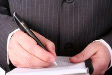 Free Businessman Making Notes Royalty Free Stock Photos - 7006738