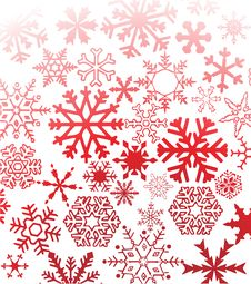 Free Red Snowflakes Stock Photos - 7006883