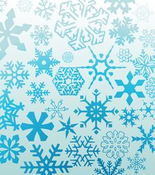 Free Blue Snowflakes Stock Images - 7006884