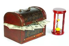 Box With Money Stock Photography