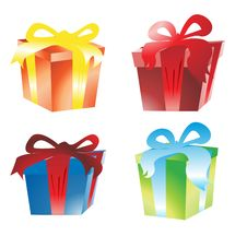 Free Gift Box Vector Royalty Free Stock Images - 7006969