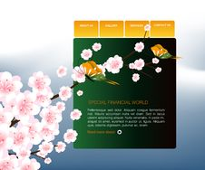 Website Template 89 Stock Image