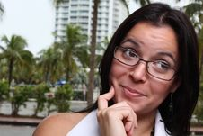 Woman Pondering Stock Photos