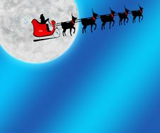 Free Santa Moon Background 1 Royalty Free Stock Images - 7008099