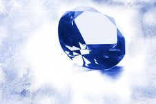 Free Diamond Over A White Background Stock Images - 7008124
