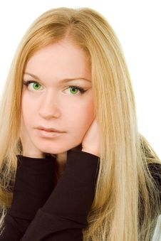 Free Young Attractive Green-eyed Dreaming Woman Stock Photography - 7008292
